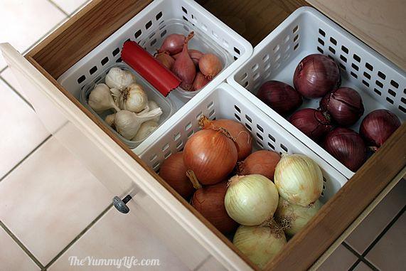 Cómo almacenar cebollas, ajo y chalotas 1