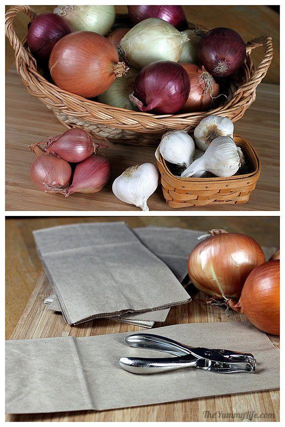Cómo almacenar cebollas, ajo y chalotas 4