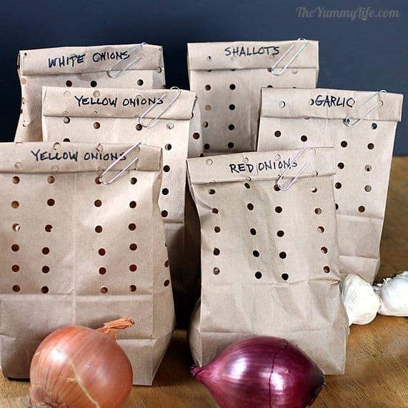 Cómo almacenar cebollas, ajo y chalotas 6
