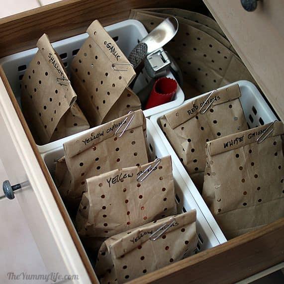 Cómo almacenar cebollas, ajo y chalotas 7
