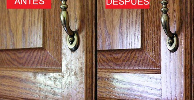 Cómo limpiar la grasa de las puertas de los armarios de cocina 3