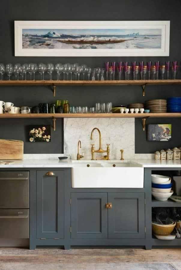 small kitchens floating shelves
