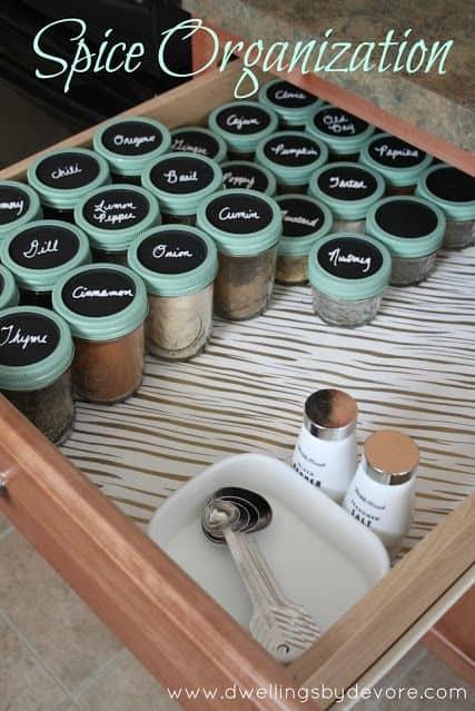 Cajón de especias mason jar