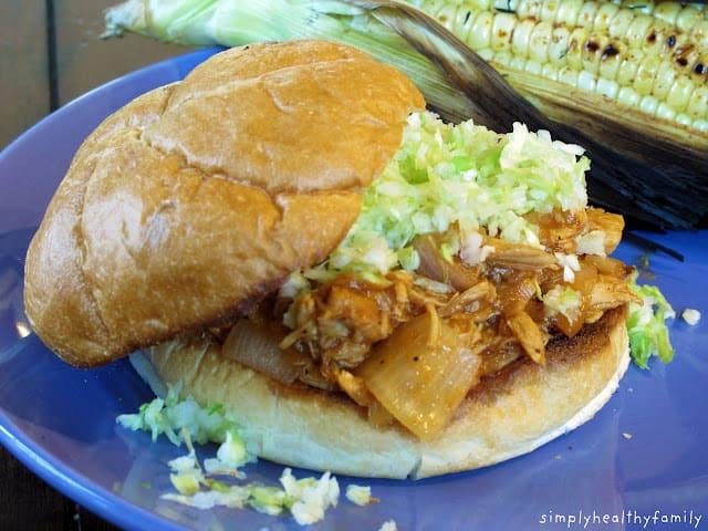 Receta para sándwiches de pollo asado en tiras 1